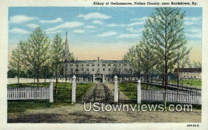 Abbey of Gethsemane, Nelson Co - Bardstown, Kentucky KY Postcard
