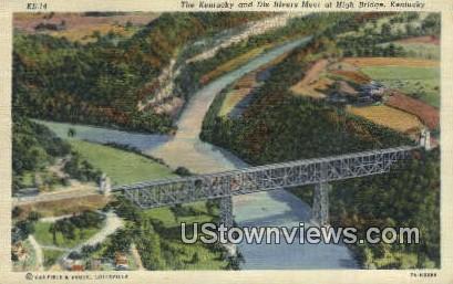 Kentucky & Dix River - High Bridge Postcard