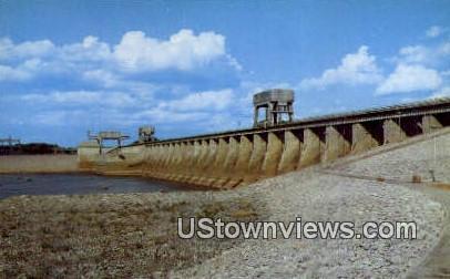 Gigantic Kentucky Dam - Gilbertsville Postcard