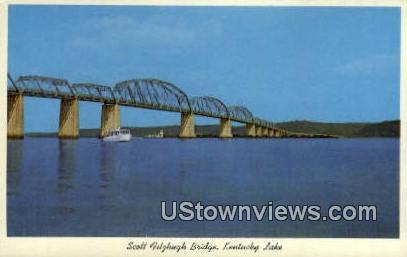 Scott Fitzhugh Bridge - Kentucky Lake Postcards, Kentucky KY Postcard