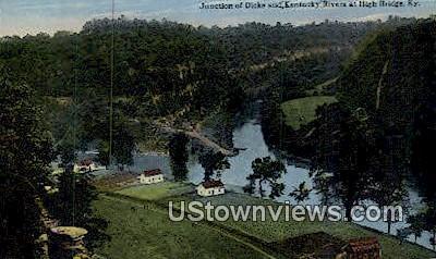 Junction of Dicks - High Bridge, Kentucky KY Postcard