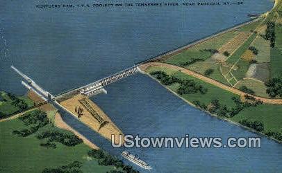 Kentucky Dam - Paducah Postcard