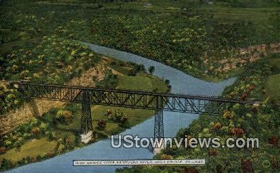 High Bridge, Kentucky River Postcard