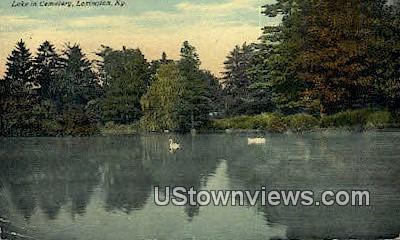 Lake in Cemetery - Lexington, Kentucky KY Postcard