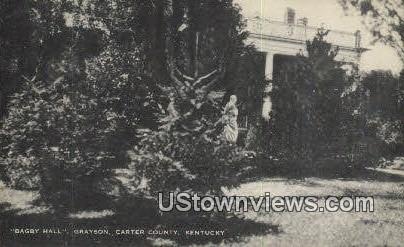 Bagby Hall, Gryason - Carter County, Kentucky KY Postcard