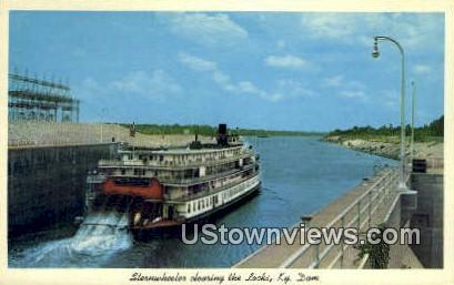 Sternwheeler - Kentucky Dam Postcards, Kentucky KY Postcard