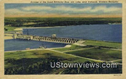 Kentucky Dam & Lake - Paducah Postcard