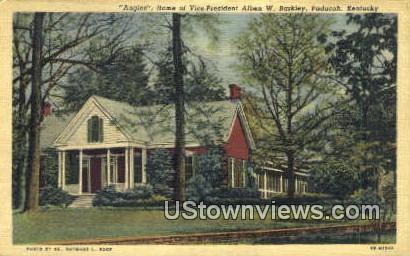 Vice-Pres Alben W. Barkley - Paducah, Kentucky KY Postcard
