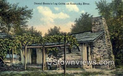 Daniel Boone's Log Cabin - Kentucky River Postcards, Kentucky KY Postcard