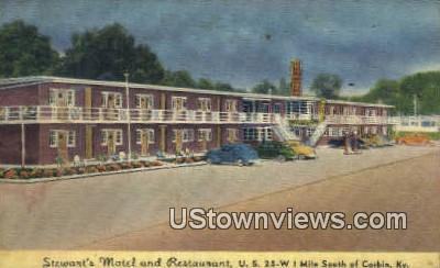 Stewart's Motel & Restaurant - Corbin, Kentucky KY Postcard