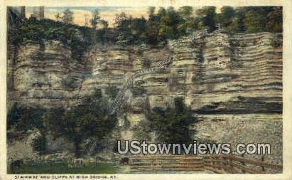 Cliffs - High Bridge, Kentucky KY Postcard