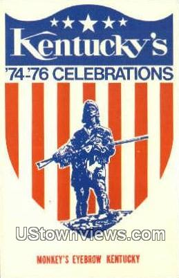 74-76 Celebrations, Bicentennial - Misc, Kentucky KY Postcard