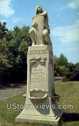 Chief Paduke Statue - Paducah, Kentucky KY Postcard