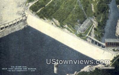 Dix River Dam - High Bridge, Kentucky KY Postcard
