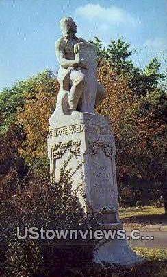 Statue of Chief Paduke - Paducah, Kentucky KY Postcard
