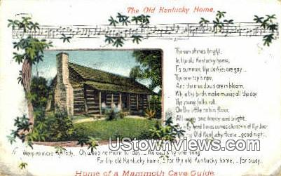 The Old Kentucky Home - Bardstown Postcard
