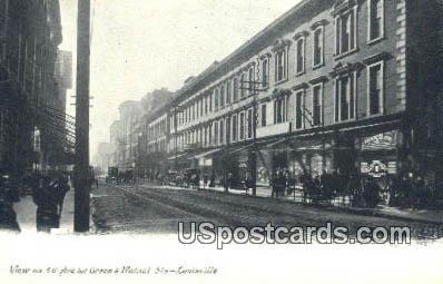 4th Avenue, Green & Walnut Streets - Louisville, Kentucky KY Postcard