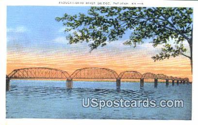 Paducah Ohio River Bridge - Kentucky KY Postcard