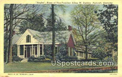 Home of Vice President Alben W Barkley - Paducah, Kentucky KY Postcard