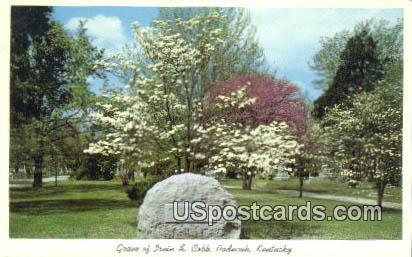 Grave of Irvin S Cobb - Paducah, Kentucky KY Postcard