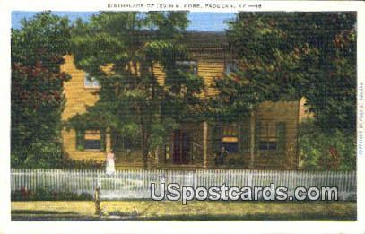 Birthplace of Irviin S Cobb - Paducah, Kentucky KY Postcard