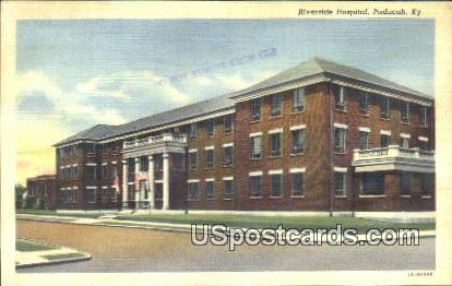 Riverside Hospital - Paducah, Kentucky KY Postcard