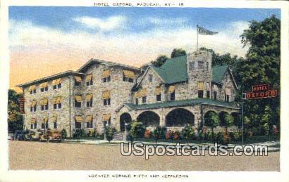 Hotel Oxford - Paducah, Kentucky KY Postcard
