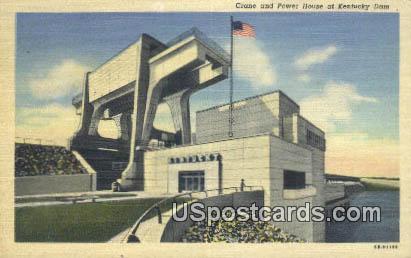 Crane & Power House - Kentucky Dam Postcards, Kentucky KY Postcard