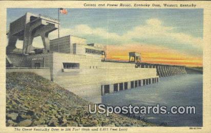 Cranes & Power House - Kentucky Dam Postcards, Kentucky KY Postcard