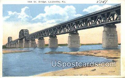 14th St Bridge - Louisville, Kentucky KY Postcard