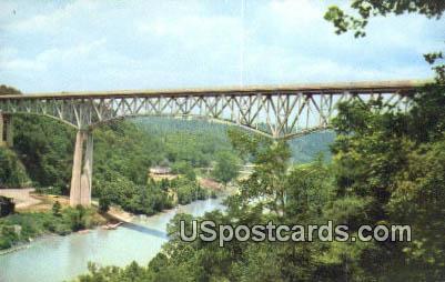 Clays Ferry Memorial Bridge - Kentucky River Postcards, Kentucky KY Postcard
