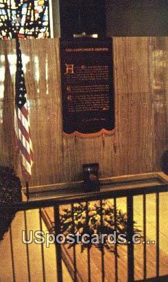 Eisenhower Meditation Chapel - Abilene, Kentucky KY Postcard