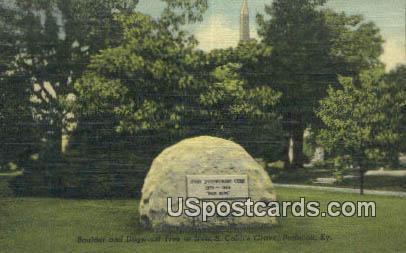 Irvin S Cobb's Grave - Paducah, Kentucky KY Postcard