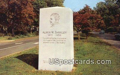 Alben W Barkley Monument - Paducah, Kentucky KY Postcard
