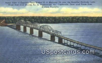 Eggner's Ferry Bridge - Kentucky Lake Postcards, Kentucky KY Postcard