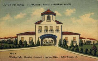 Motor Inn Hotel - Baton Rouge, Louisiana LA Postcard