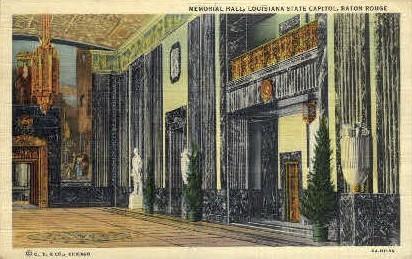 Memorial Hall - Baton Rouge, Louisiana LA Postcard