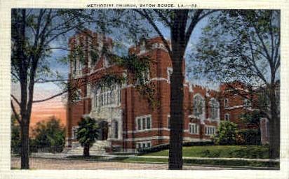 Methodist Church - Baton Rouge, Louisiana LA Postcard