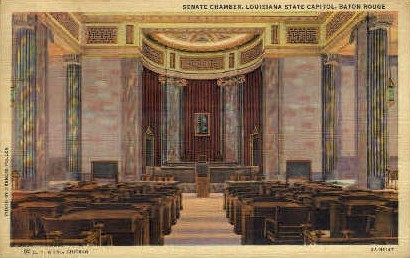 Senate Chamber - Baton Rouge, Louisiana LA Postcard