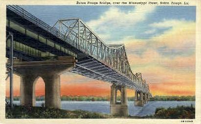 Baton RougeBridge - Louisiana LA Postcard