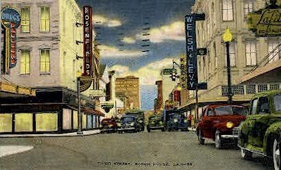 Third Street - Baton Rouge, Louisiana LA Postcard