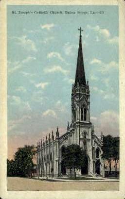 St. Joseph's Catholic Church - Baton Rouge, Louisiana LA Postcard