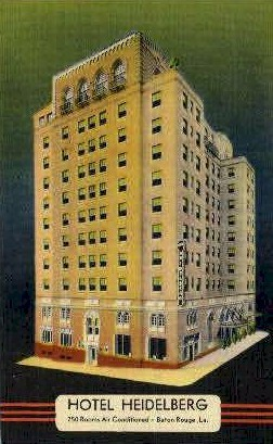Heidelgerg Hotel - Baton Rouge, Louisiana LA Postcard