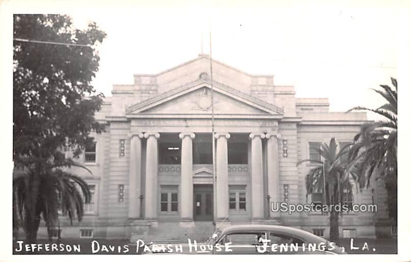 Jefferson Davis Parish House - Jennings, Louisiana LA Postcard
