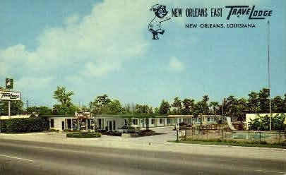 New OrleansEast Trave Lodge - Louisiana LA Postcard