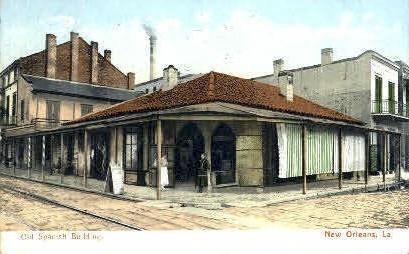 Old Spanish Building - New Orleans, Louisiana LA Postcard