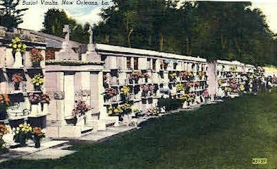 Burial Vaults - New Orleans, Louisiana LA Postcard