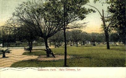 Coliseum Park - New Orleans, Louisiana LA Postcard