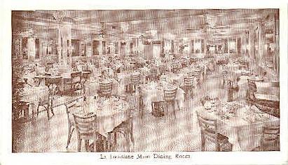 La Louisiane Main Dining Room - New Orleans, Louisiana LA Postcard