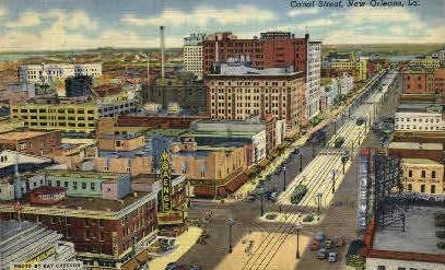 Canal Street  - New Orleans, Louisiana LA Postcard